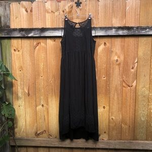 Anthropologie black sleeveless maxi dress GUC.